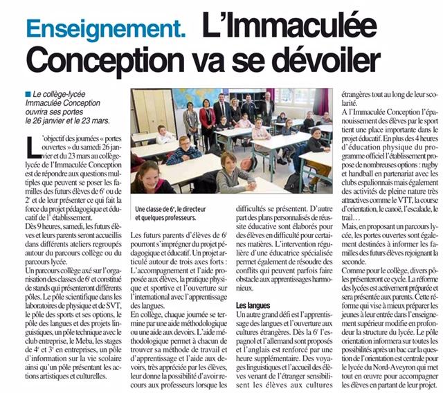 Espalion – Collège et Lycée Immaculée Conception