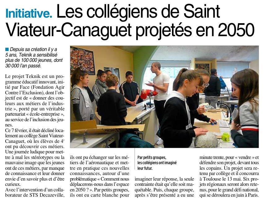 Onet le Château – Collège Saint Viateur Canaguet