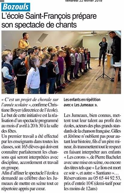 Bozouls – Ecole Saint François