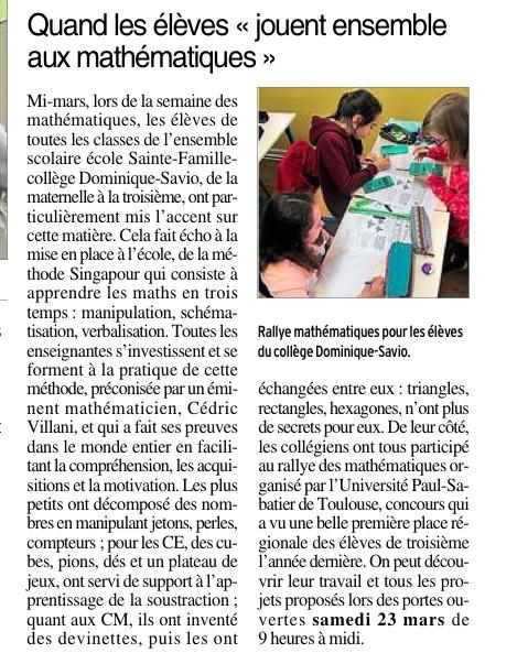 Rieupeyroux – Collège Dominique Savio