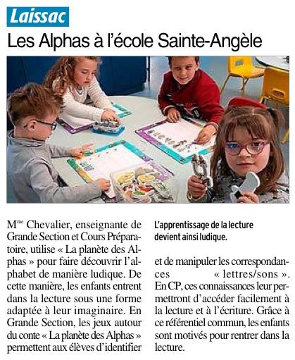 Laissac – Ecole Sainte Angèle