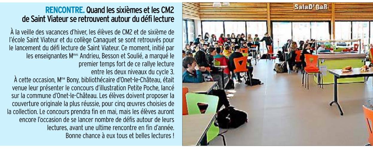 Onet le Château – Ecole et collège Saint-Viateur –