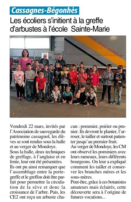 Cassagnes-Bégonhès – Ecole Sainte Marie