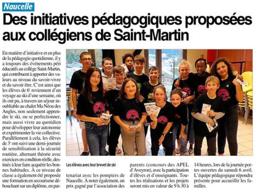 Naucelle – Collège Saint Martin
