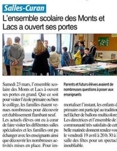 Salles-Curan – Ensemble scolaire des Monts-et-Lacs