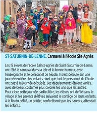Saint-Saturnin-de-Lenne – Ecole Sainte Agnès