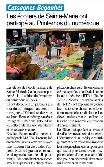Cassagnes-Bégonhès – École Sainte Marie