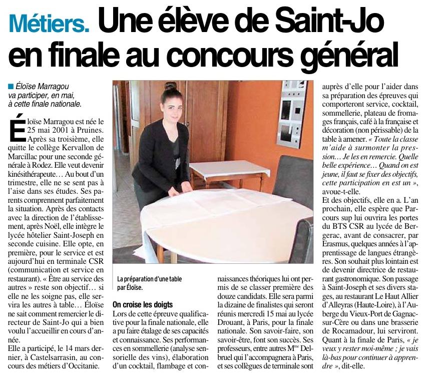 Villefranche de Rouergue – Lycée Hôtelier Saint Joseph