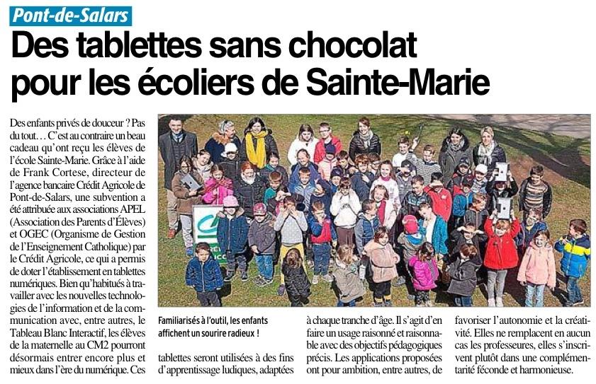 Pont de Salars –  Ecole Sainte Marie