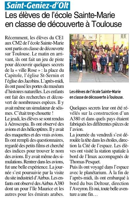 Saint-Genie d'Olt – Ecole Sainte Marie