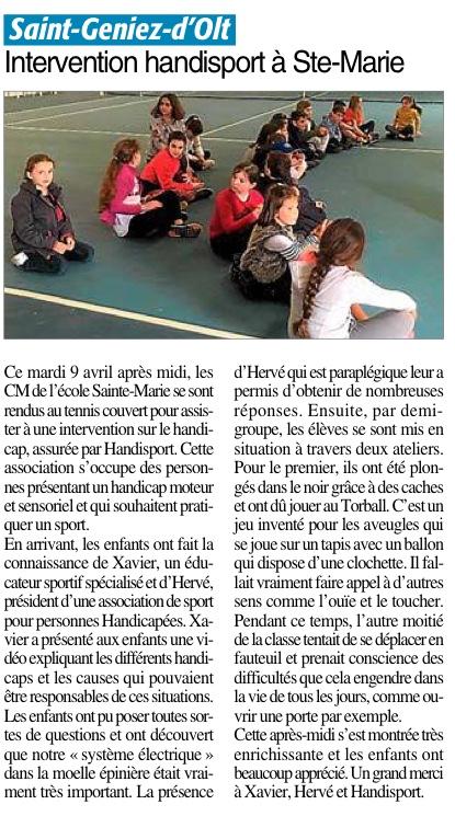 Saint-Geniez d'Olt – Ecole Sainte Marie