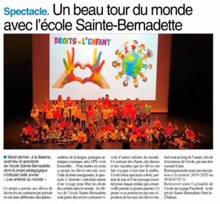 Onet le Château – Ecole Sainte Bernadette