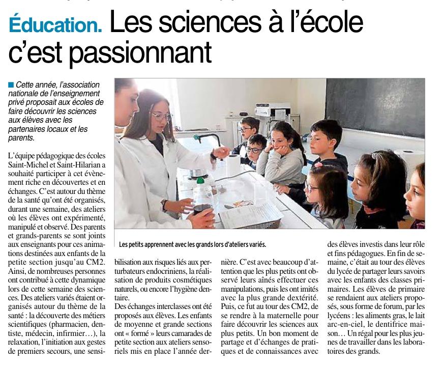 Espalion – Ecoles Saint Michel – Saint Hilarian
