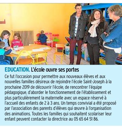 Rignac -Ecole Saint-Joseph