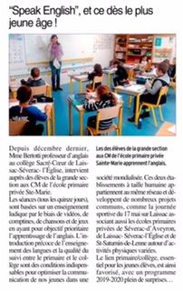 Saint-Geniez-d'Olt – Ecole Sainte Marie