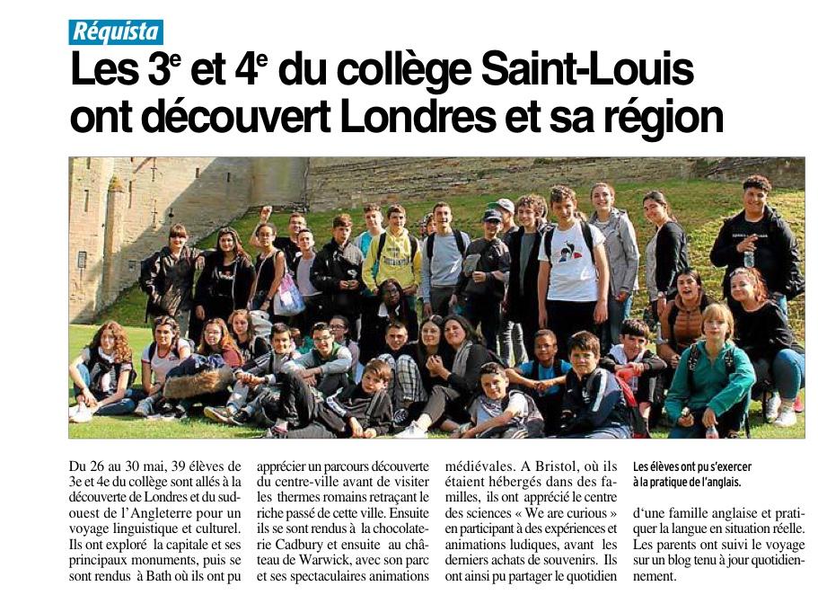 Réquista – Collège Saint Louis