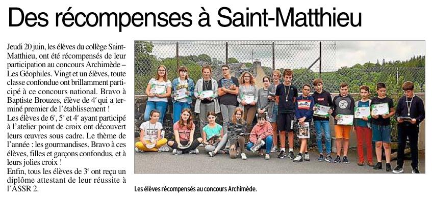 Laguiole – Collège St Matthieu