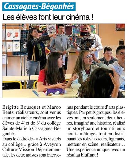 Cassagnes-Bégonhès – Collège Sainte Marie