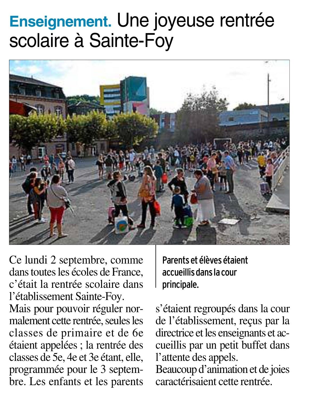Decazeville – Ecole Sainte Foy