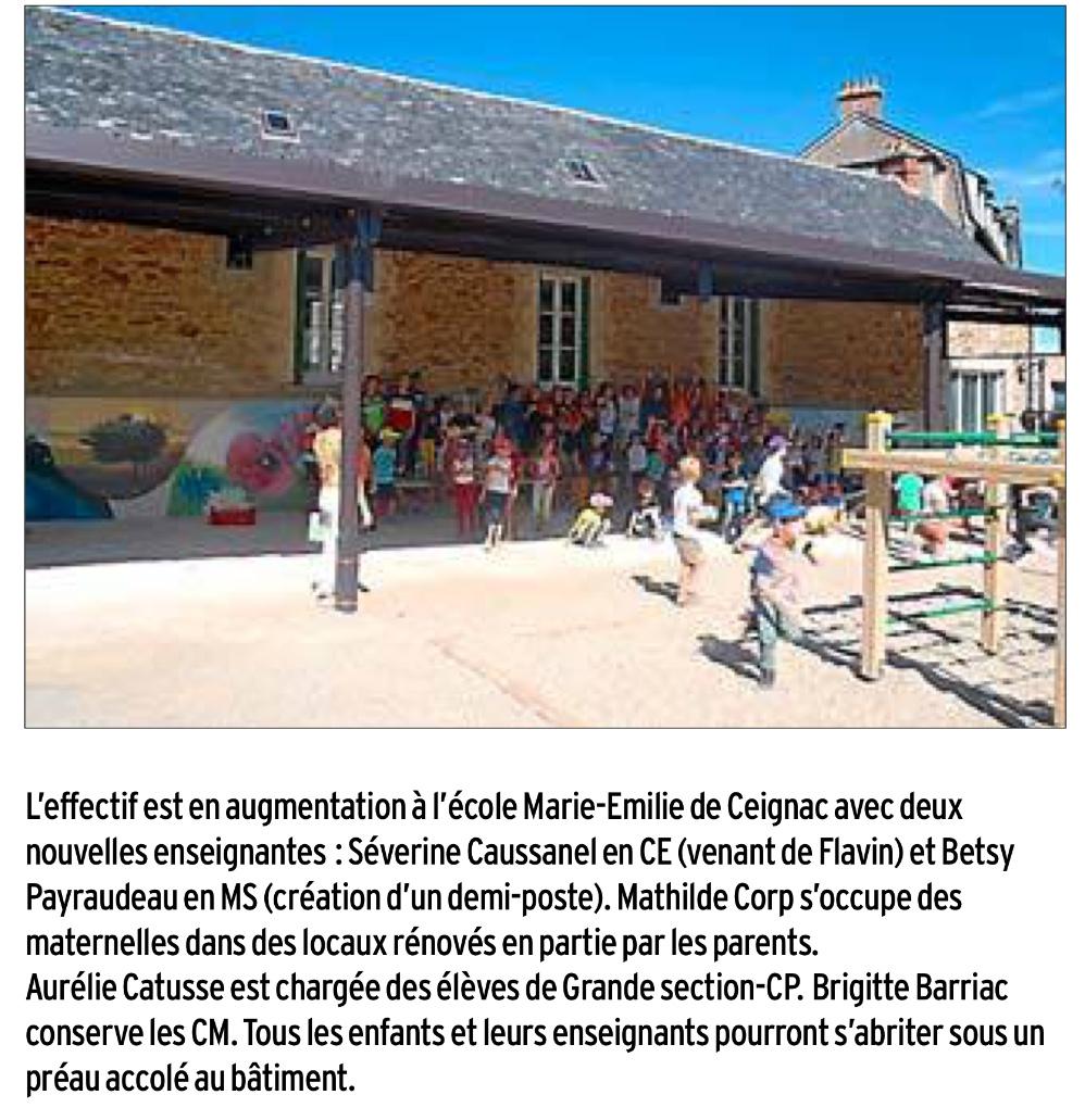 Ceignac – Ecole Marie-Emilie