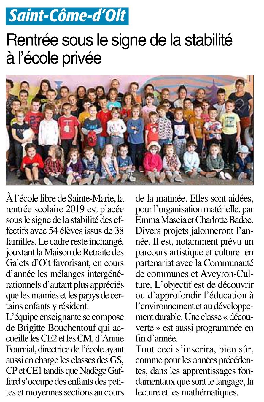 Saint-Côme-d'Olt – Ecole Sainte Marie