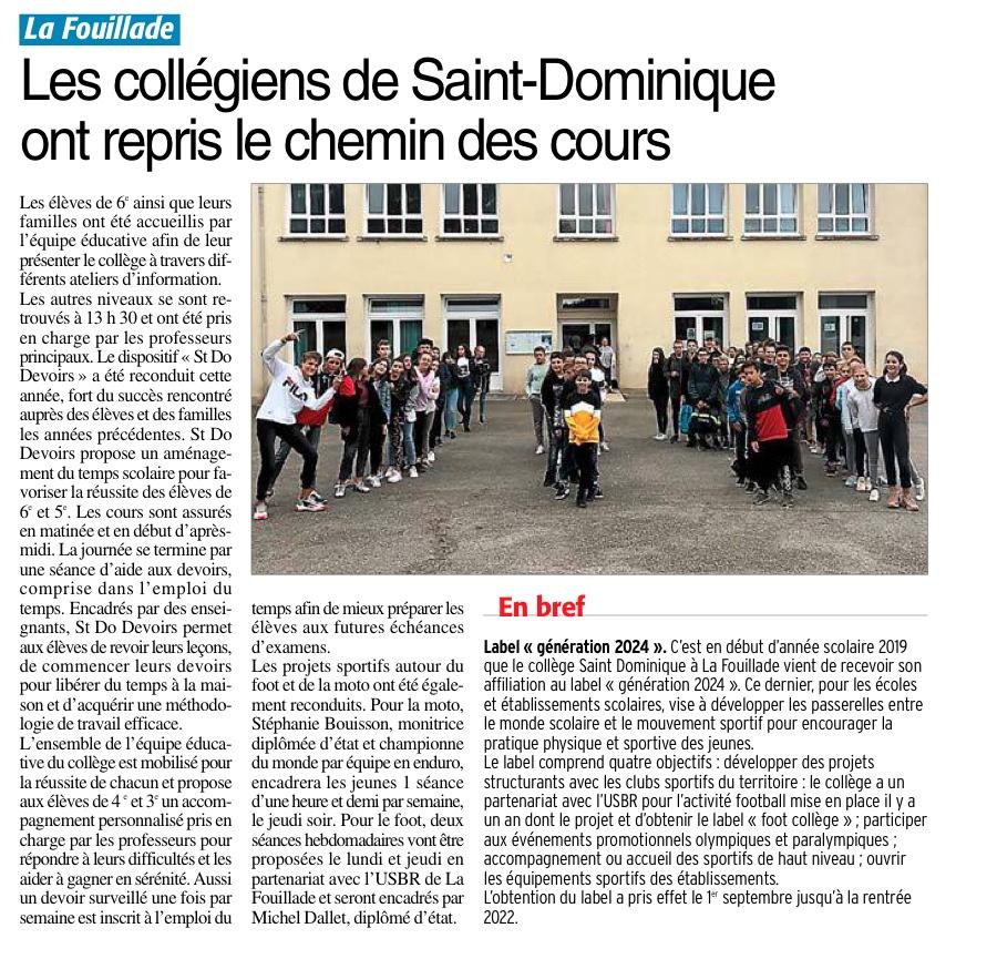 La Fouillade – Collège Saint-Dominique