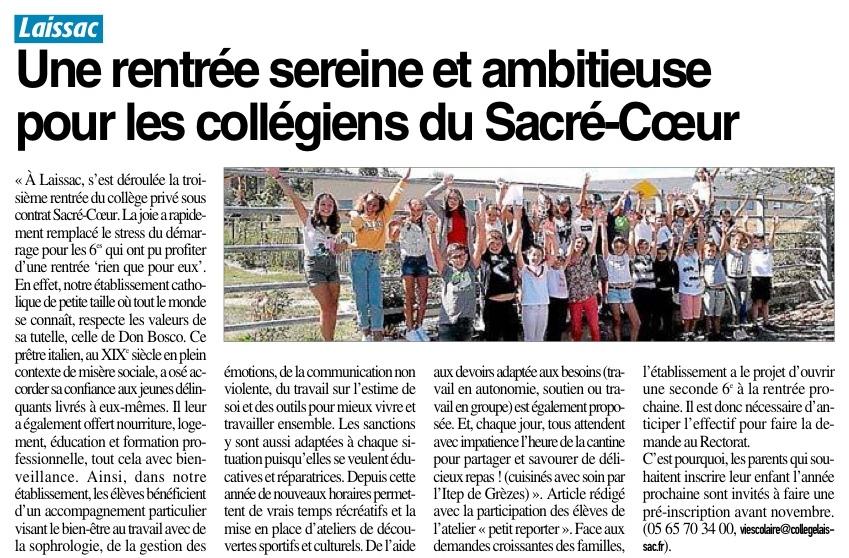 Laissac – Collège Sacré-Coeur
