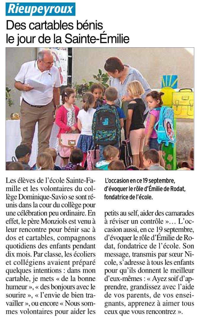Rieupeyroux – Ecole Sainte Famille