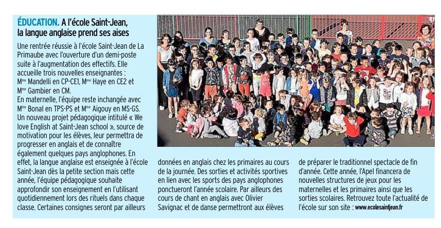 La Primaube – Ecole St Jean