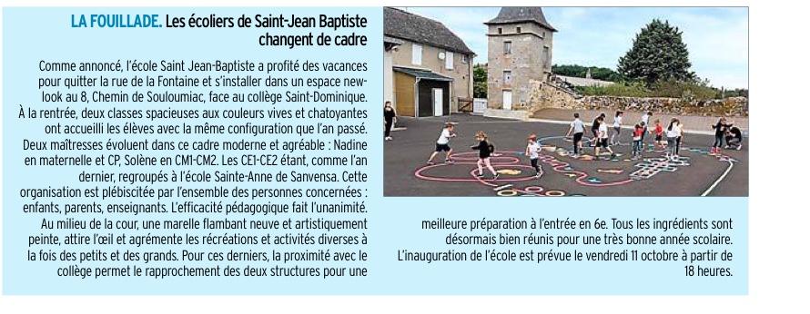La Fouillade – Ecole Saint Jean-Baptiste