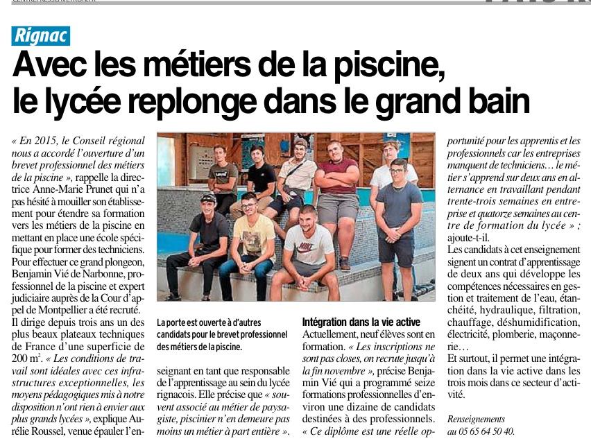 Rignac – Lycée Professionnel Agricole et Horticole