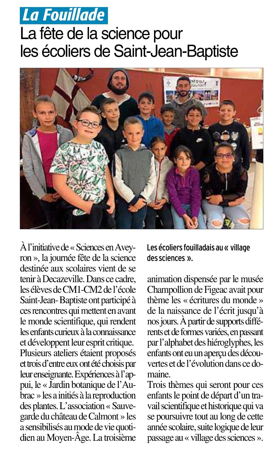 La Fouillade – Ecole Saint-Jean-Baptiste