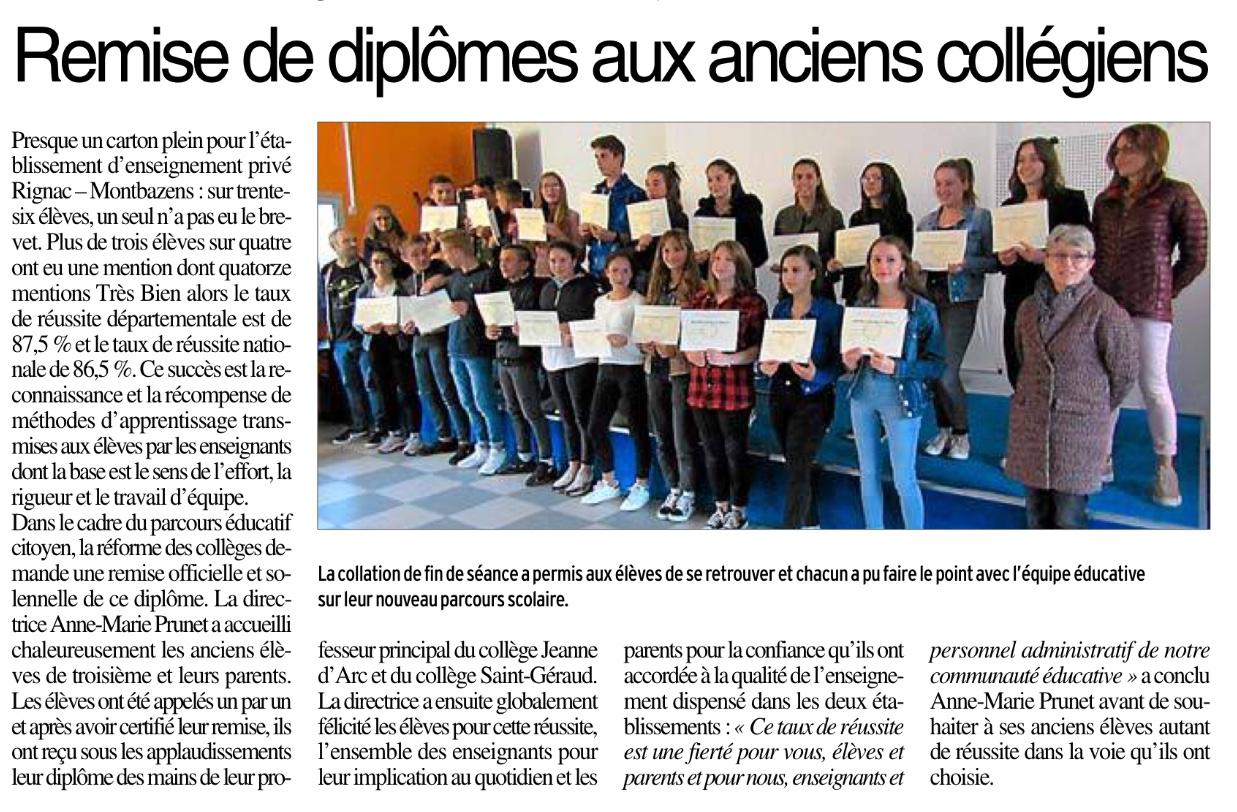 Rignac-Montbazens – Collèges Jeanne d'Arc et Saint Géraud