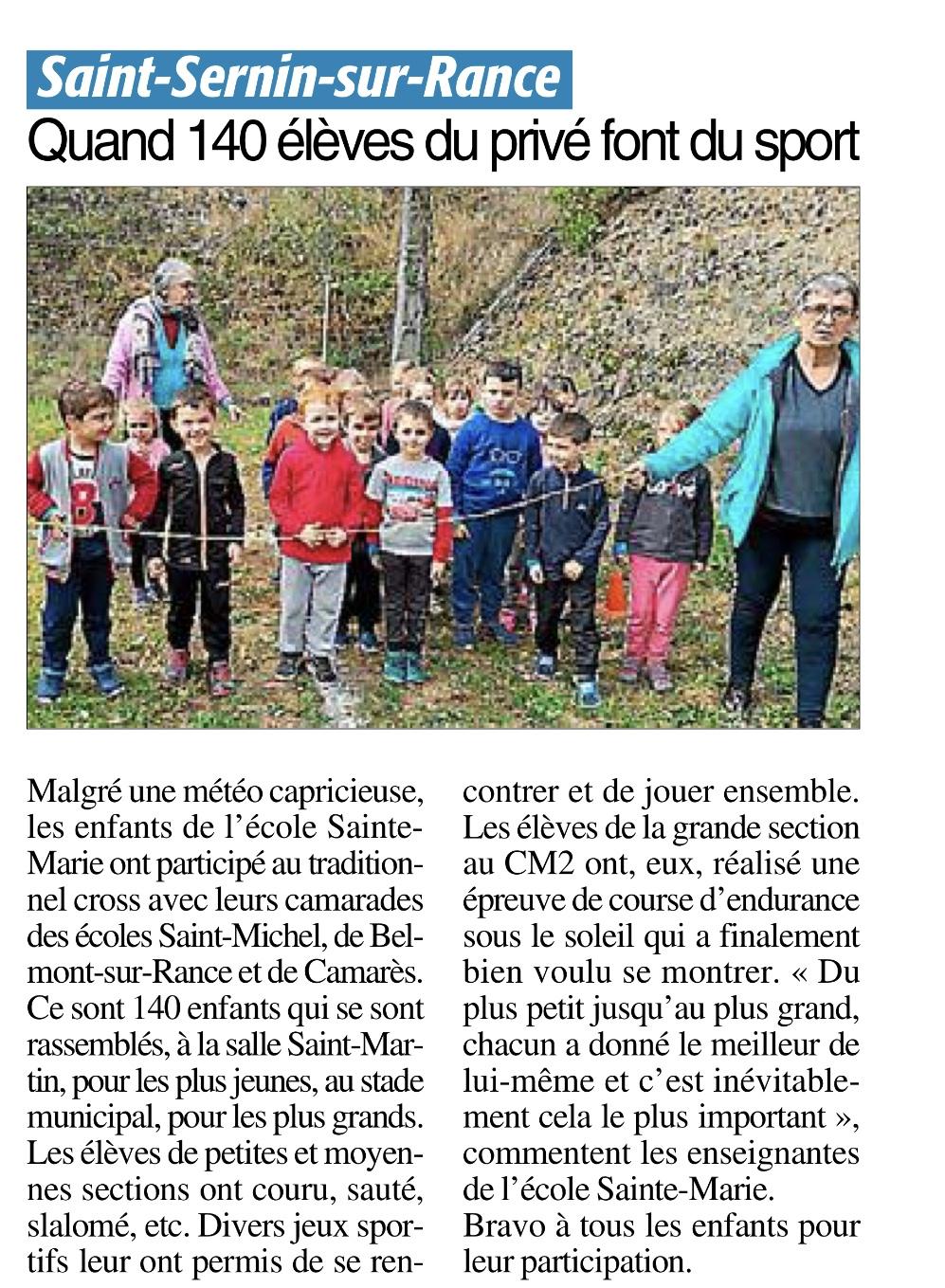 Saint-Sernin-sur-Rance – Ecole Sainte Marie