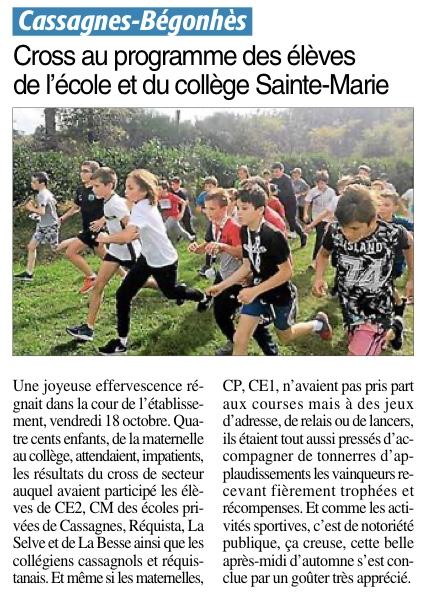 Cassagnes-Bégonhès – Ecole et collège Sainte Marie
