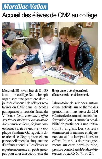 Marcillac-Vallon – Collège Saint joseph