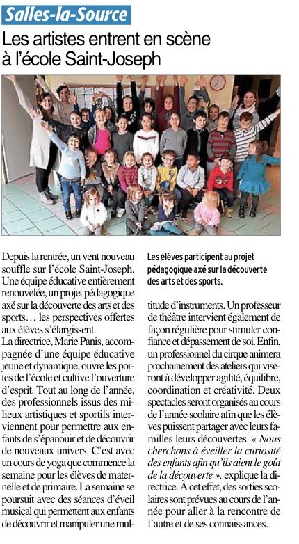 Salles-la Source – Ecole Saint Joseph