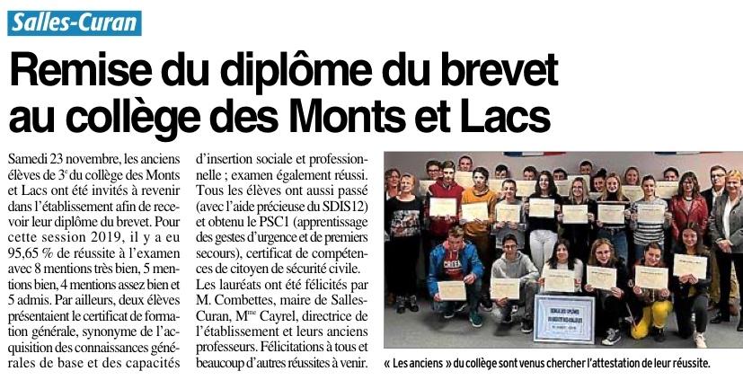 Salles-Curan – collège des Monts et Lacs