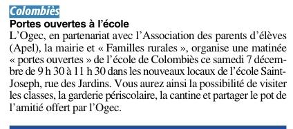 Colombiès – Ecole Saint Joseph