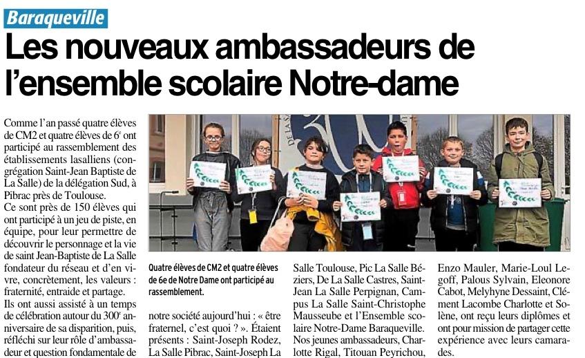 Baraqueville – Ecole Notre-Dame