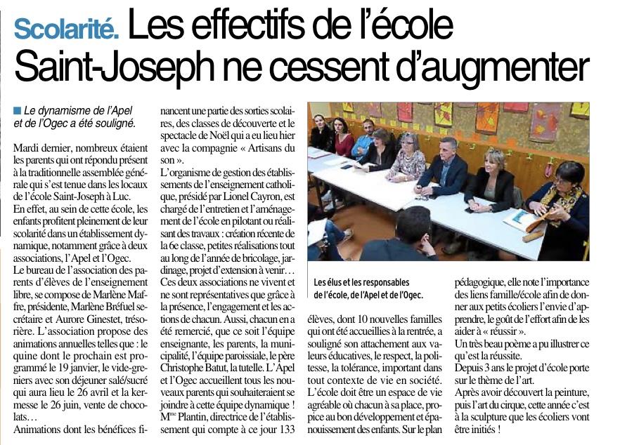Luc-La Primaube – Ecole Saint Joseph