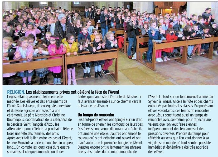 Rignac – Ecole St Joseph – Collège Jeanne d'Arc – Lycée Agricole