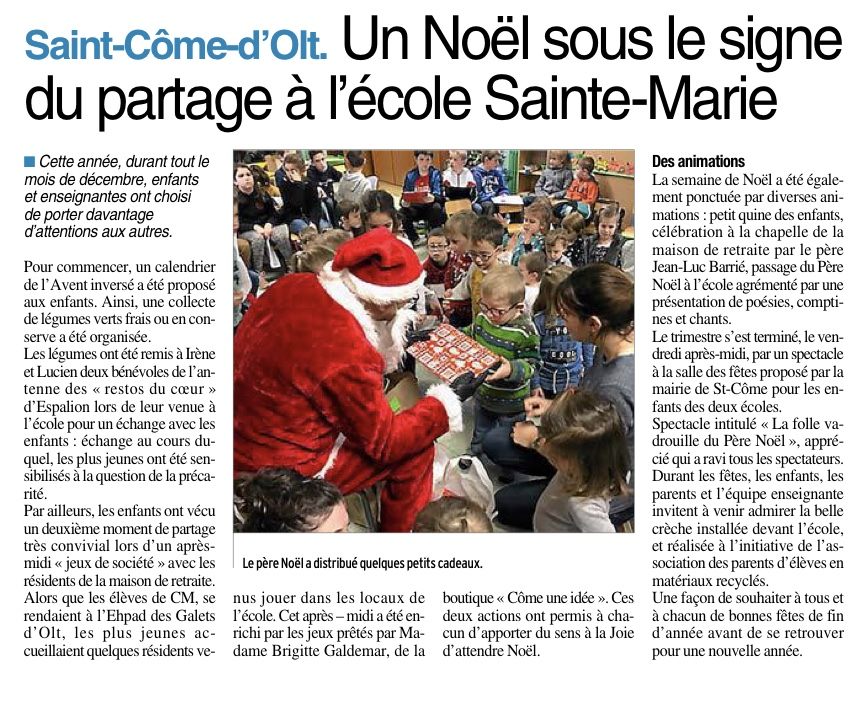 Saint-Côme d'Olt – Ecole Sainte Marie