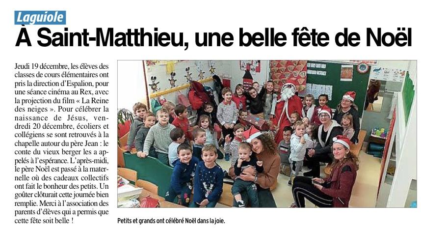 Laguiole – Ecole Saint Matthieu