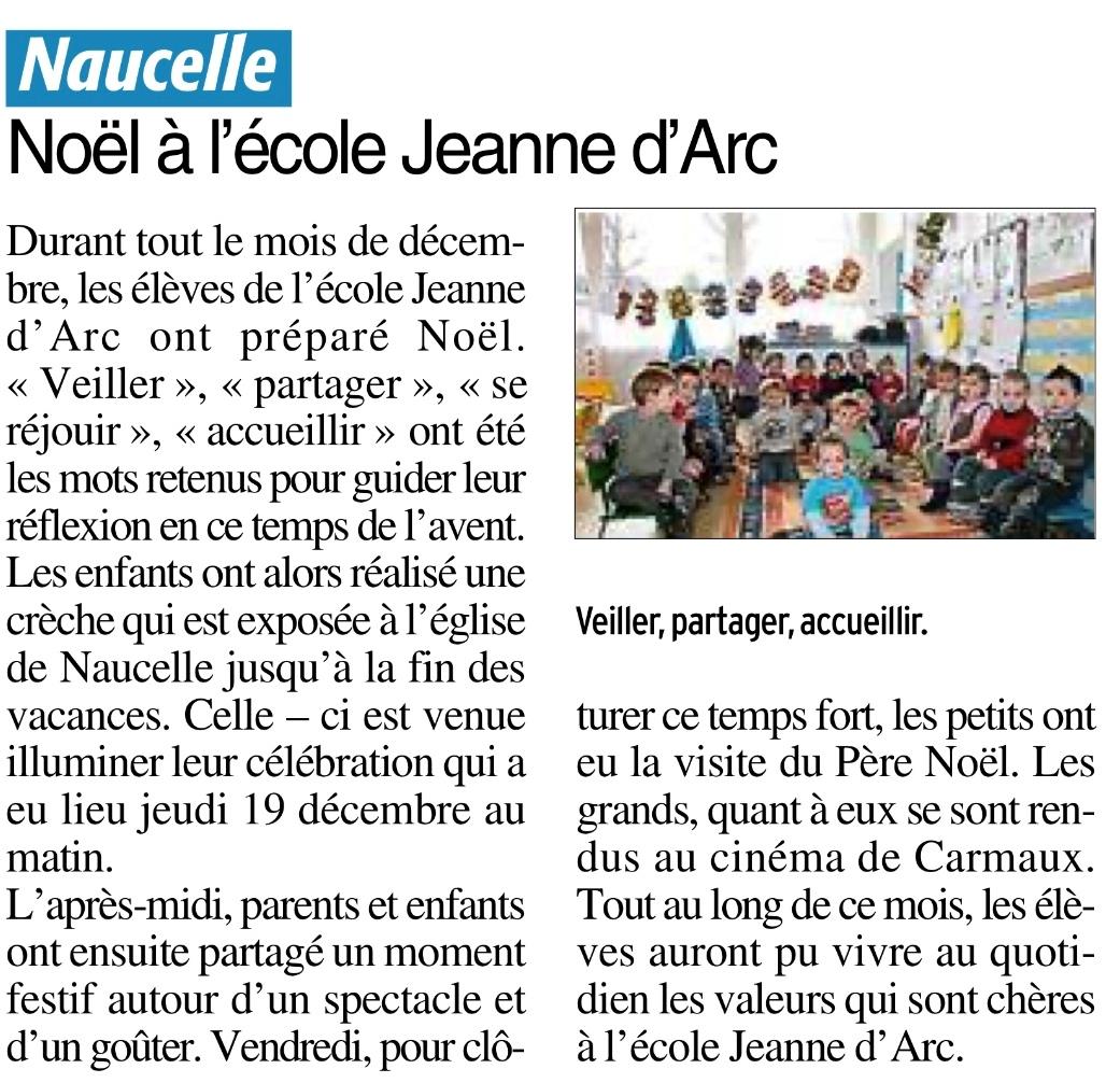 Naucelle – Ecole Jeanne d'Arc
