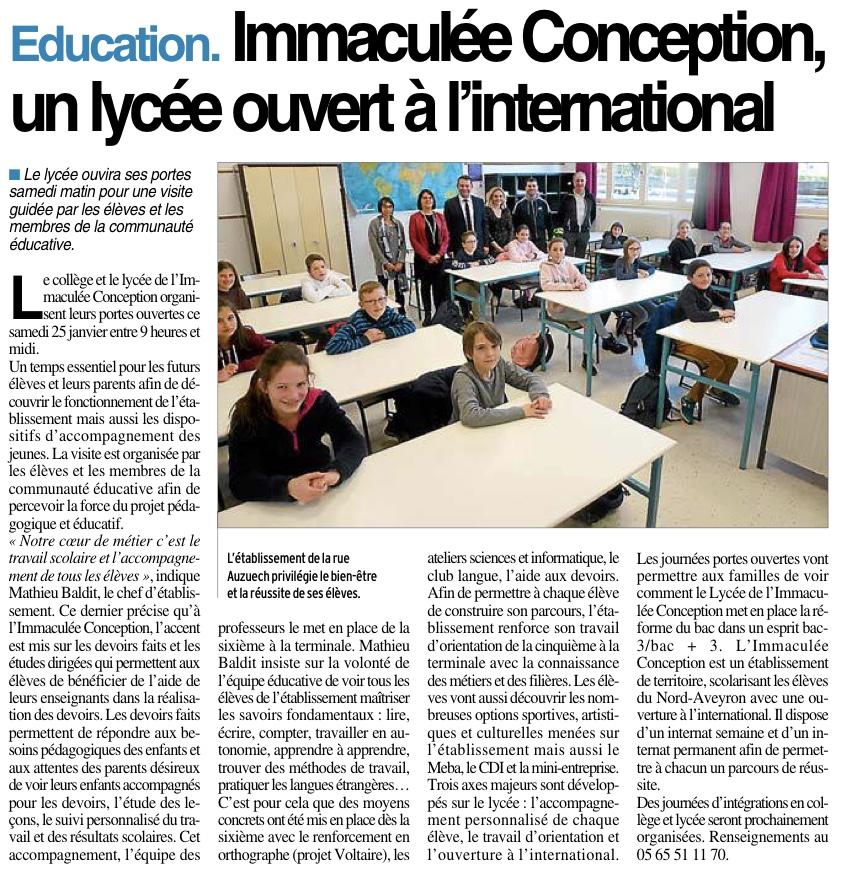 Espalion – Lycée Immaculée Conception
