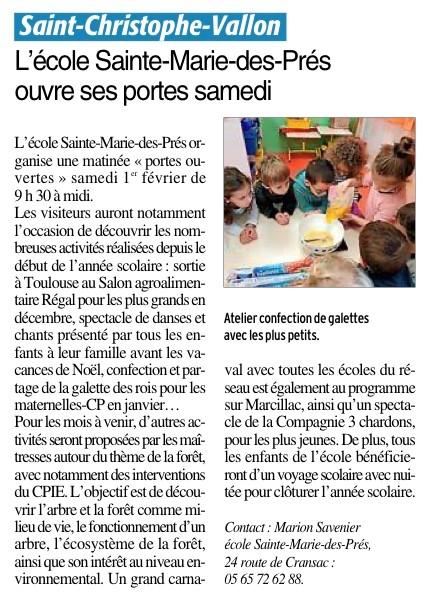 Saint-Christophe-Vallon – Ecole Sainte Marie des Prés