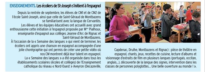 Rignac – Montbazens – Ecoles Saint Joseph et Saint Géraud