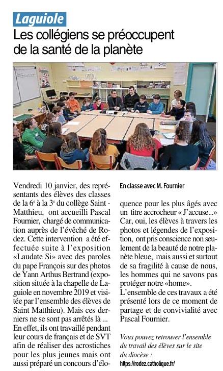 Laguiole – Collège Saint Matthieu