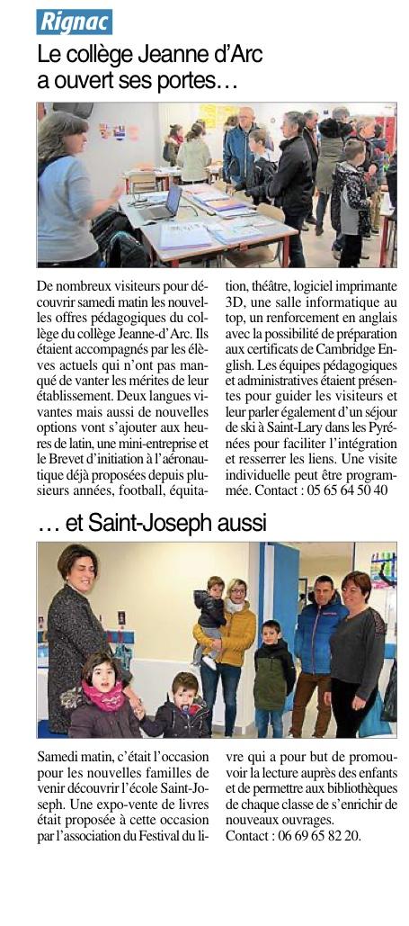 Rignac – Collège Jeanne d'Arc et École Saint Joseph